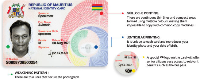 The New Mauritian National Identity Card